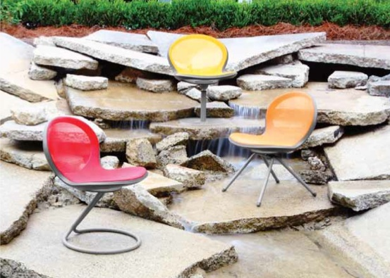 OFM NET Series Outdoor Chairs