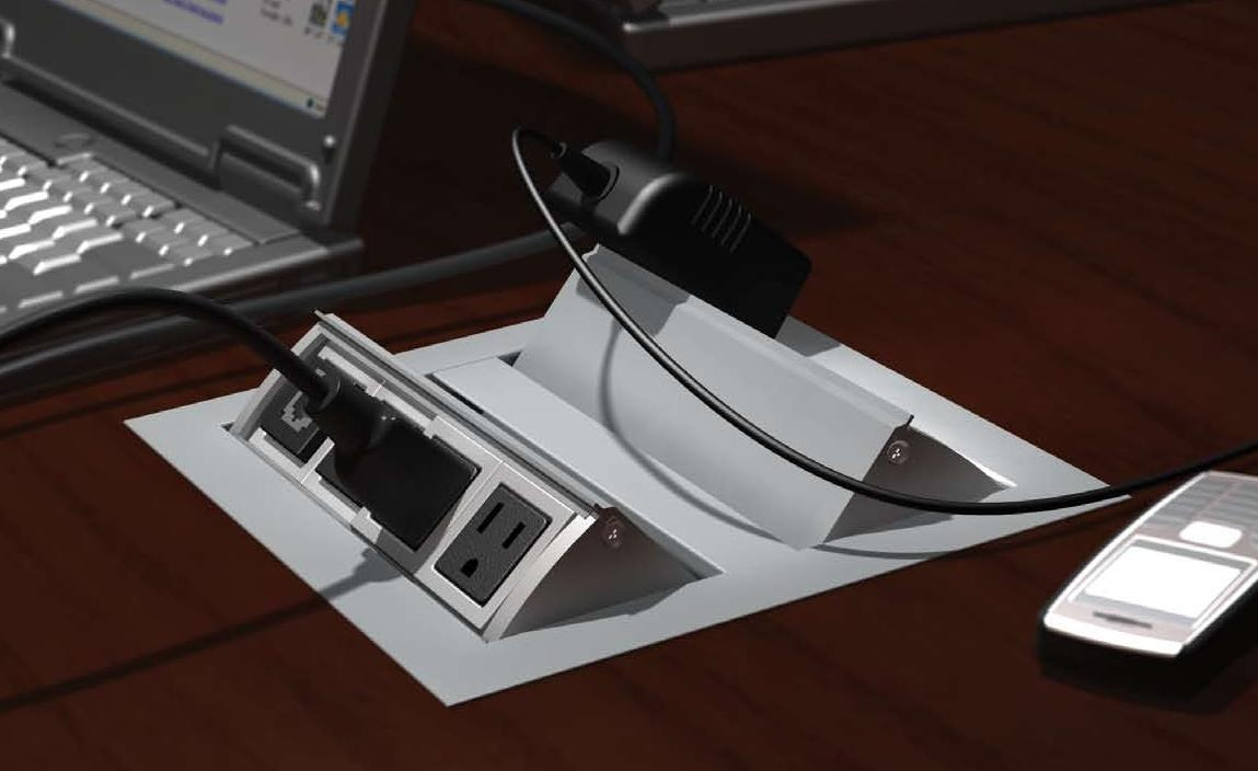 WoW Electric Power USB Charging Video Data Modules Enhance - Conference table pop up outlets