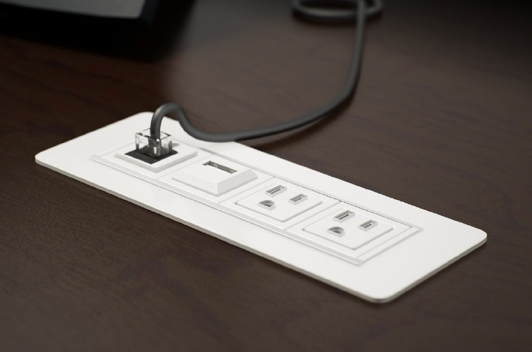 Desktop Power Data Modules Waterproof Design - Conference table power hub