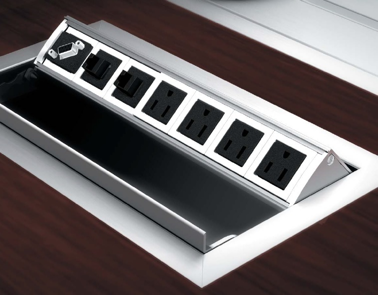 WoW Power USB Data Video Modules Enhance Your Conference - Conference table power hub