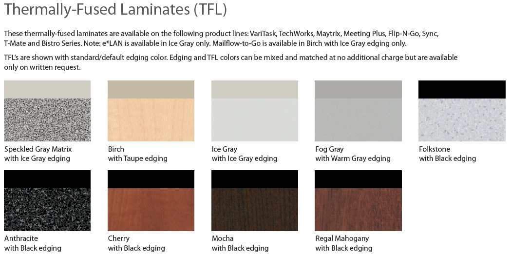 Mayline TFL Colors