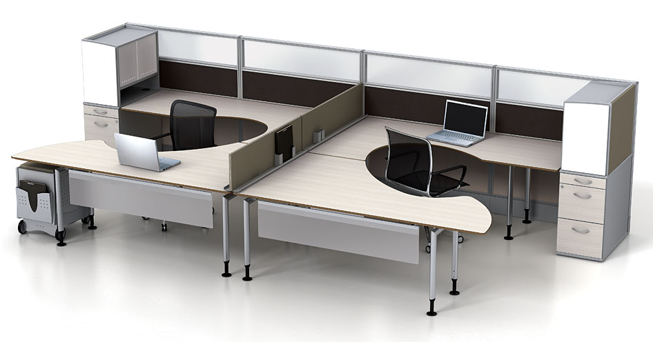 modular office furniture - watson fusion dual worksttion