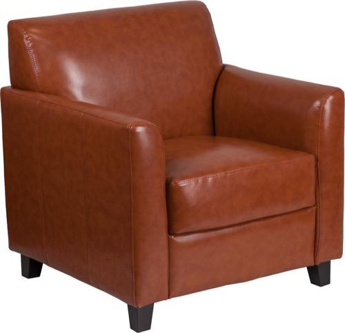 HERCULES Diplomat Series Cognac Leather Chair [BT 827 1 CG GG]