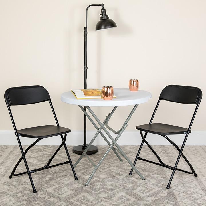 Admirable Big Tall Folding Chair Hercules 800 Lb Rated Premium Black Plastic Creativecarmelina Interior Chair Design Creativecarmelinacom
