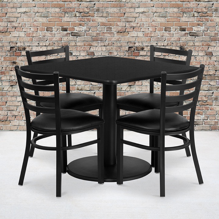 Enhance Your Dining Space With A Table And Metal Restaurant Chair Set - Metal cafe table and chairs